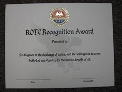 Rotc Certificate